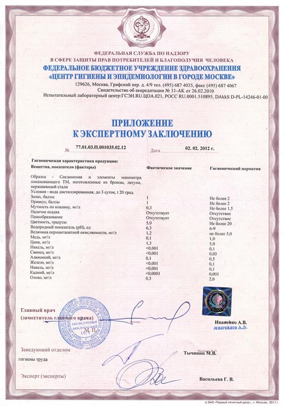 термоманометр паспорт