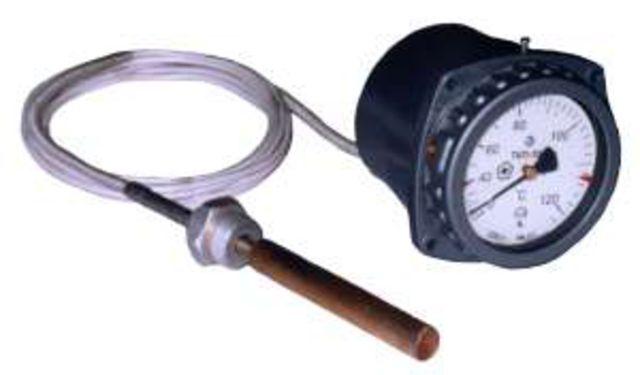 Газовые манометрические термометры вложенной шкалой